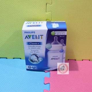 [超特價][現貨]英國製造 全新 飛利浦 AVENT CLASSIC+系列 9安士初生嬰兒奶樽2個裝 (藍色版) PHILIPS AVENT CLASSIC+ 2 FEEDING BOTTLES BOX SET (Blue Edition)