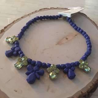 Jewelled Blue/Yellow Necklace