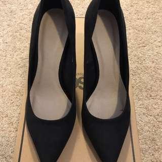 Brand New ASOS Velvet Black High Heel Shoes
