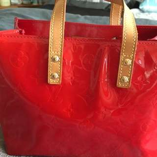 LV Red Vernis Bag Authentic