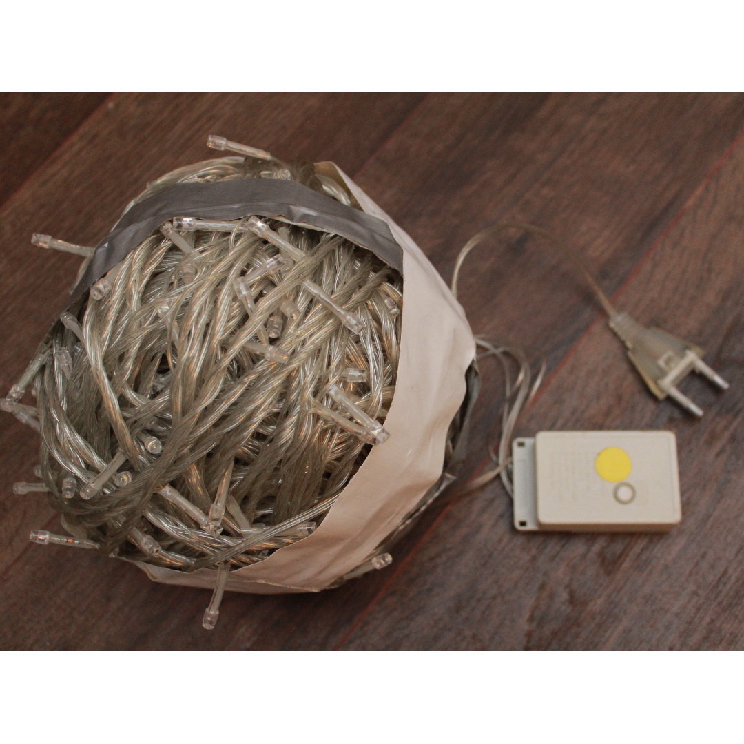 100 metre LED Power Operated String Fairy Lights (Warm white) (2 sets)