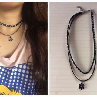 Choker With Necklace
