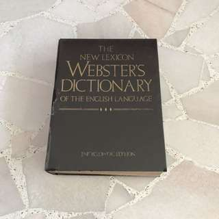 Webster's Dictionary Of The English Language (1988 Edition)
