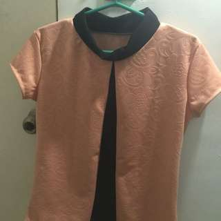 REPRICED‼️Closed-Neck Blouse