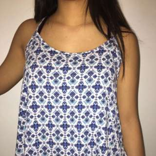American Eagle patterned tank