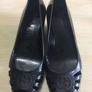 Gucci 塑膠涼鞋-黑色(九成新)
