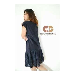 Velvet Dress Navy