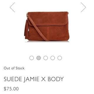 Oasis Suede Jamie Cross Body Bag