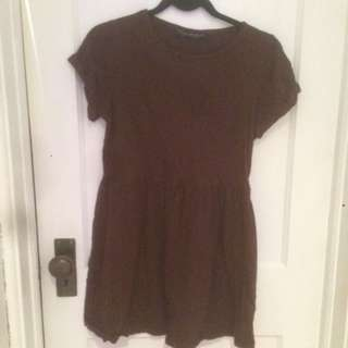 Topshop Burgundy Petite Baby Doll Dress
