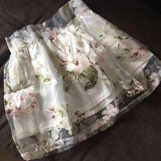 New Floral Organza Skirt