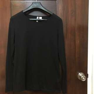 H&M Black Long Sleeves Top