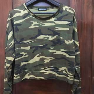Camouflage Crop Sweater