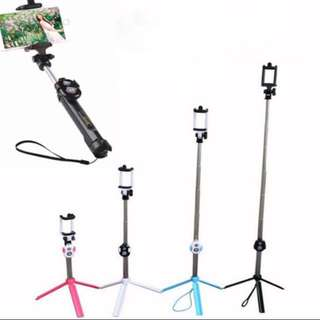 Selfie Stand (2 In 1) For Mobile Phone (Ready stock)