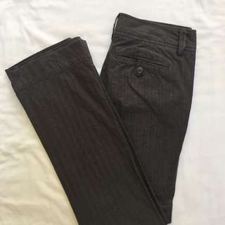 Grey Herringbone Pants 8