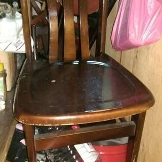 靠背椅子二張