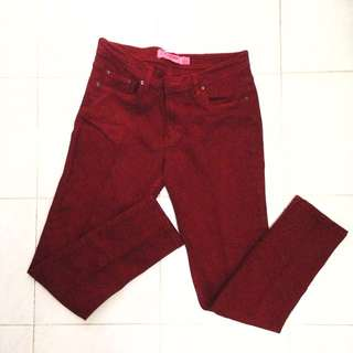 Connexion Red Skinny Jeans