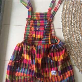 Hippy Rainbow Overalls