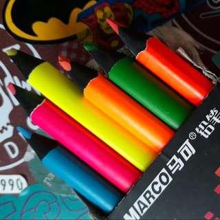 6pcs Highlighter Pencils