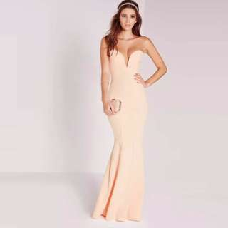 MISSGUIDED Fishtail Maxi Dress