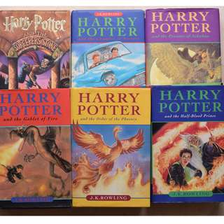 HARRY POTTER HARDCOVER books #1-6 JK Rowling