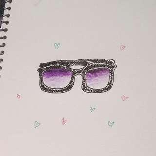 🔮Purple Fade Sunglasses