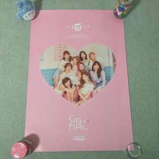 TWICE - Signal (ver. B) (Poster) [UNFOLDED]