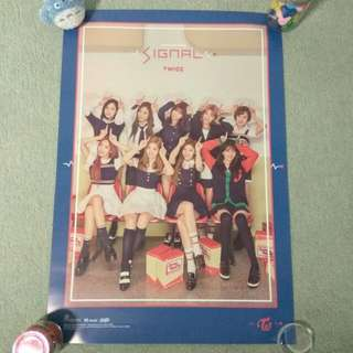 TWICE - Signal (ver. C) (Poster) [UNFOLDED]