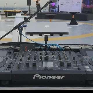 Rental Of Pioneer DJ Decks