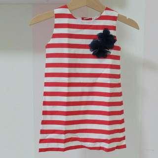 Paulette Stripes Red Dress