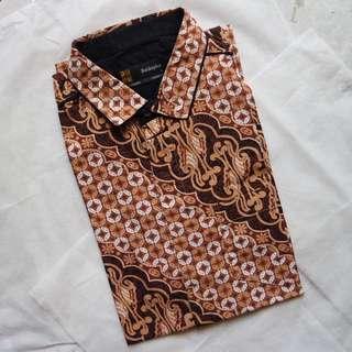 (REPRICE) Batiksplus - Kemeja Batik Lengan Pendek