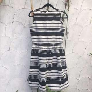 Striped Semi Formal Dress ❗️Free Shipping ❗️