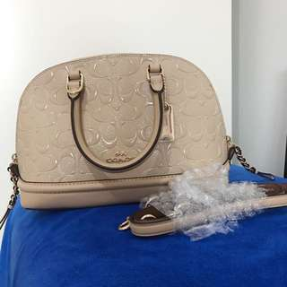 COACH Mini Sierra Satchel In Signature Debossed Patent Leather