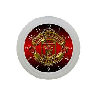 Manchester United Wall Clock Customise Graphic Inspired Mufc