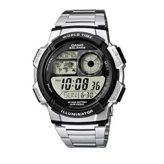 Casio Men's Silver Stainless Steel Strap Watch AE-1000WD-1AVDF