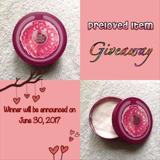 The Body Shop Hand&Body Cream Giveaway
