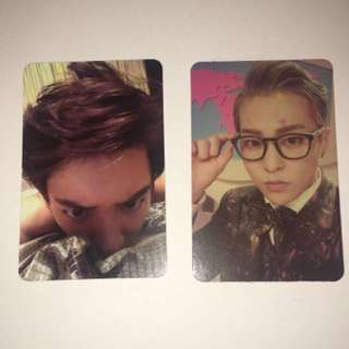 Wts Exo Chanyeol And Xiumin Photocards