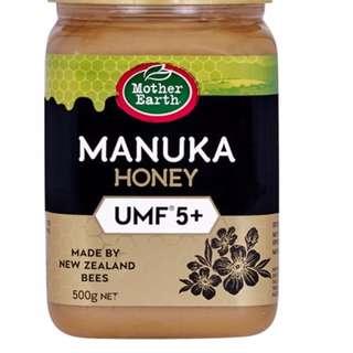 🚚 【紐西蘭代購】Mother Earth UMF5+麥蘆卡蜂蜜 500g