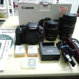 Eos 600D+2 LENS (18-55Mm+55-250Mm)/2battery+16Gb