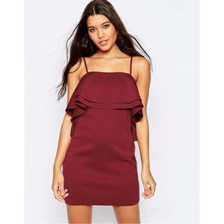 ASOS Layered Red Mini Dress
