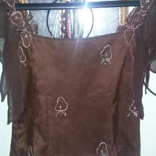 Baju Semi Kebaya Crop