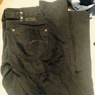 Gstar Raw Authentic Black Skinny Jeans