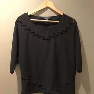 Cut Out Black Glassons Blouse