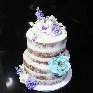 Customized Naked Cake