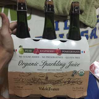3 Flavored Sparkling Juice