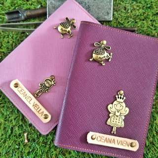 ae2c3184d2 Personalized Customised Saffiano Series Passport Color With a Charm (Normal  Postage Included)