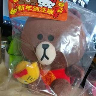 7-11 Sanrio X Line 新年別注版 1套2隻 Hello Kitty & 熊大