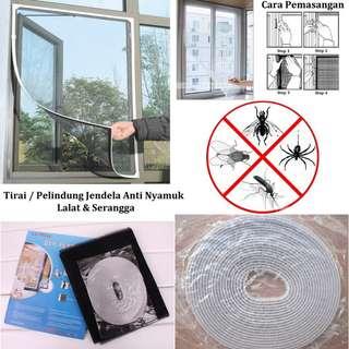 Tirai Pelindung Jendela Anti Nyamuk, Lalat dan Serangga - Besar