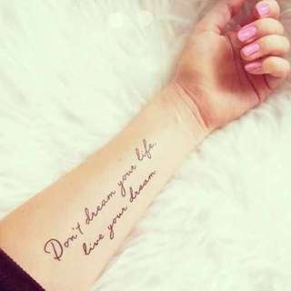 Dont dream your life Tattoo