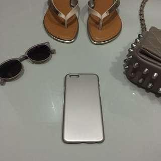 reprice ‼️‼️ iphone 6s rosegold metalic case
