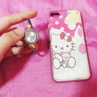 BUNDLE SALE!! Hello Kitty iPhone 5/5c/5s case with FREE BRACELET WATCH